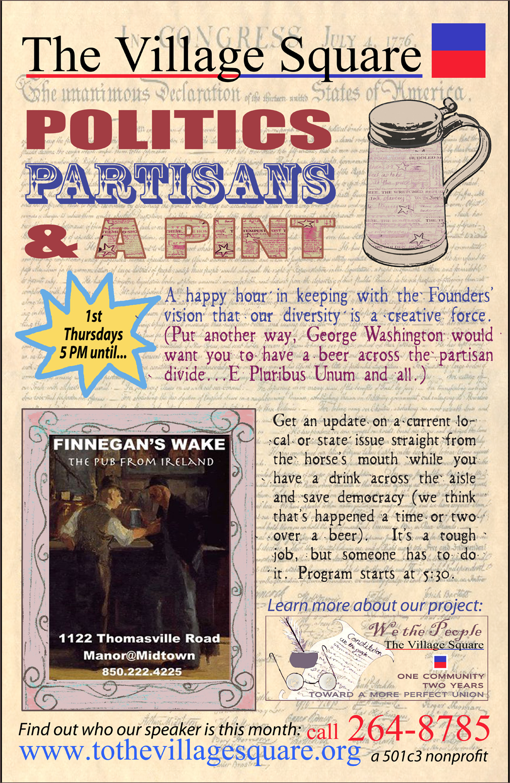 POLITICS PARTISANS PINT POSTER small